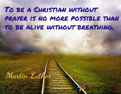 praying christian