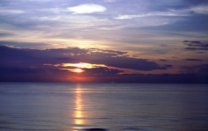 Sunrise over the Atlantic Ocean - Ormond Beach, Florida