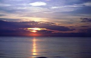 Sunrise over the Atlantic Ocean - Ormond Beach, Florida
