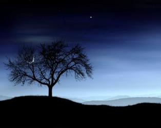 night-teal-sky-serene 1